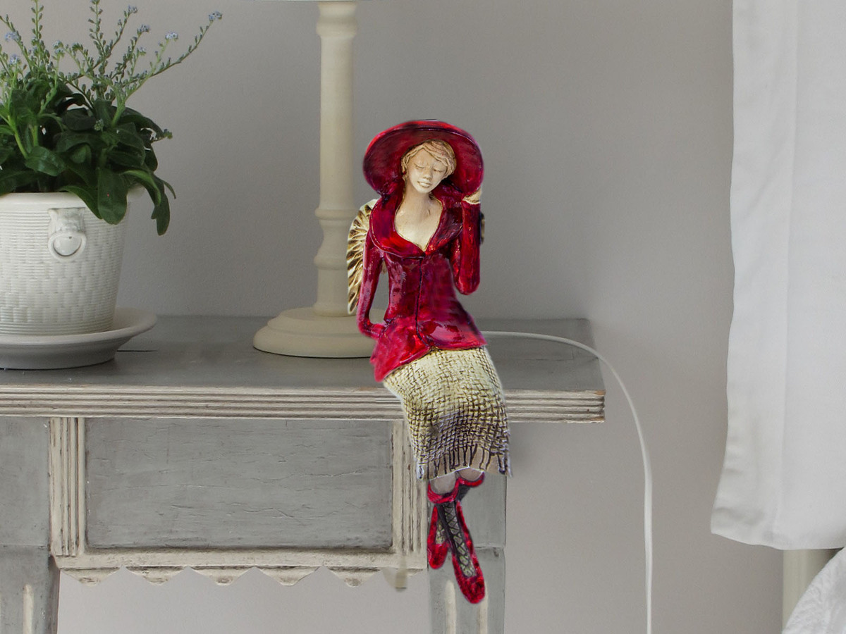 Angel Megan (Red) -  20 x 9 cm decorative figurine