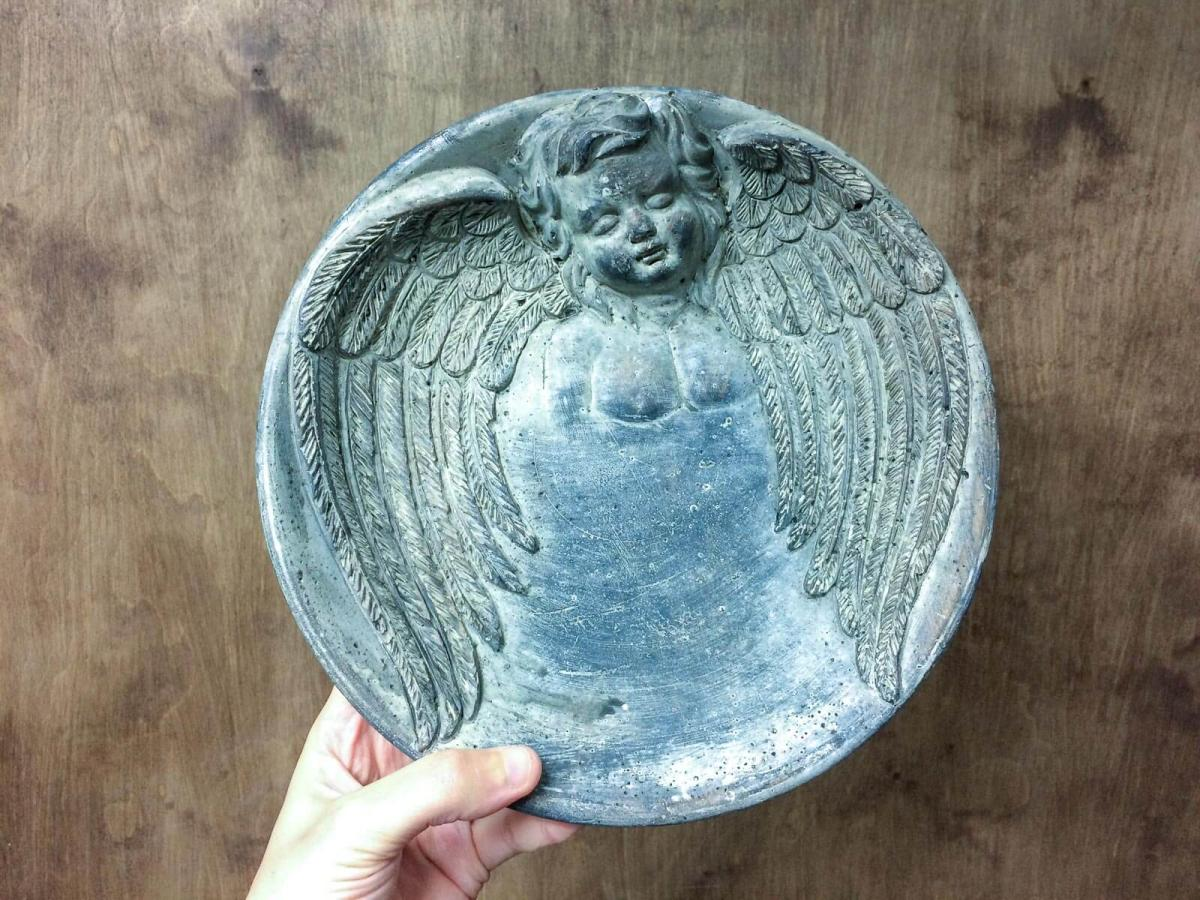 Tray with angel (Big) -  decorative figurine