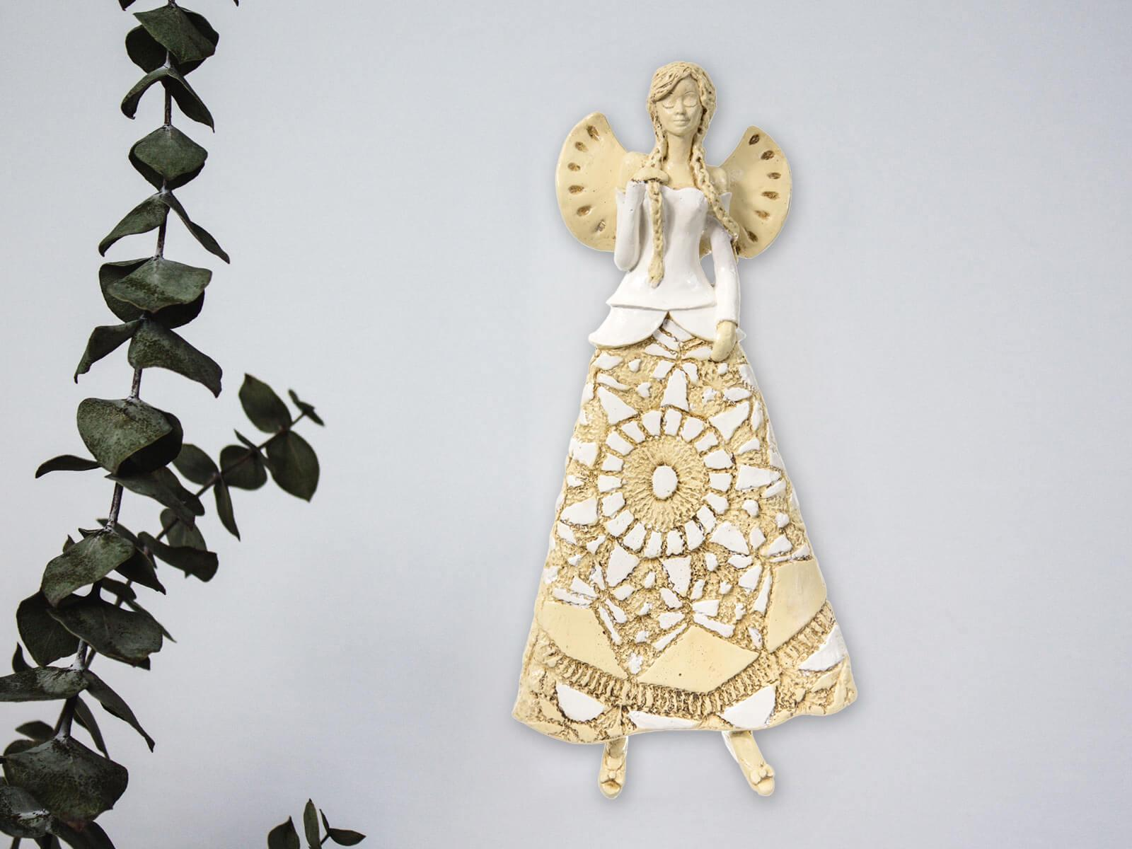 Angel Heather (White) -  35 x 15 cm decorative figurine