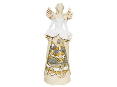 Angel Anna (White) -  30 x 14 cm decorative figurine