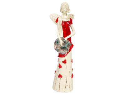 Angel Sunday Rose (Red) -  32 x 15 cm decorative figurine
