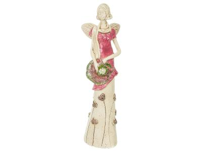 Angel Sunday Rose (Pink) -  32 x 15 cm decorative figurine