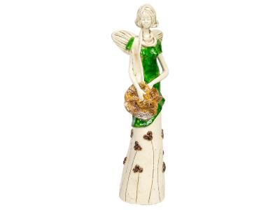 Angel Sunday Rose (Green) -  32 x 15 cm decorative figurine