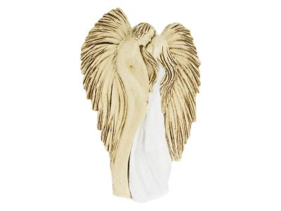Angels in Love (Hanging - white) -  35 x 21 cm decorative figurine