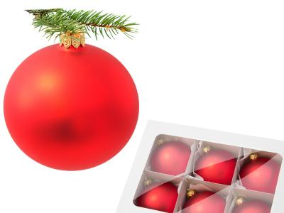 -  80 mm 6 pcs glass christmas balls