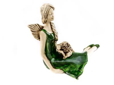 Angel Matilda (Green) -  15 cm decorative figurine