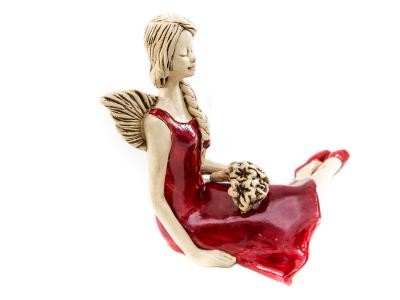 Angel Matilda (Red) -  15 cm decorative figurine