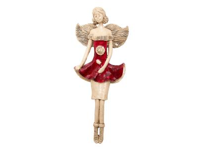 Angel Theresa (Red) -  30 x 14 cm decorative figurine
