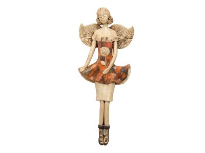 Angel Theresa  (Orange) -  30 x 14 cm decorative figurine