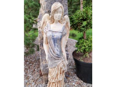 Angel Victoria (Gray Jeans) -  62 x 19 cm decorative figurine