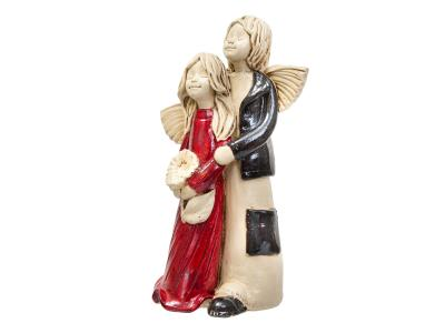Angel Allen & Alice (Red) -  25 x 14 cm decorative figurine