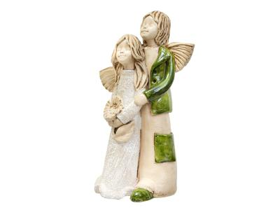 Angel Allen & Alice (Green) -  25 x 14 cm decorative figurine
