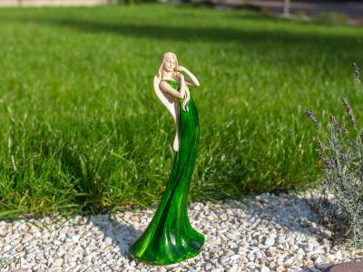 Angel Elise (Green) -  35 x 15 cm decorative figurine