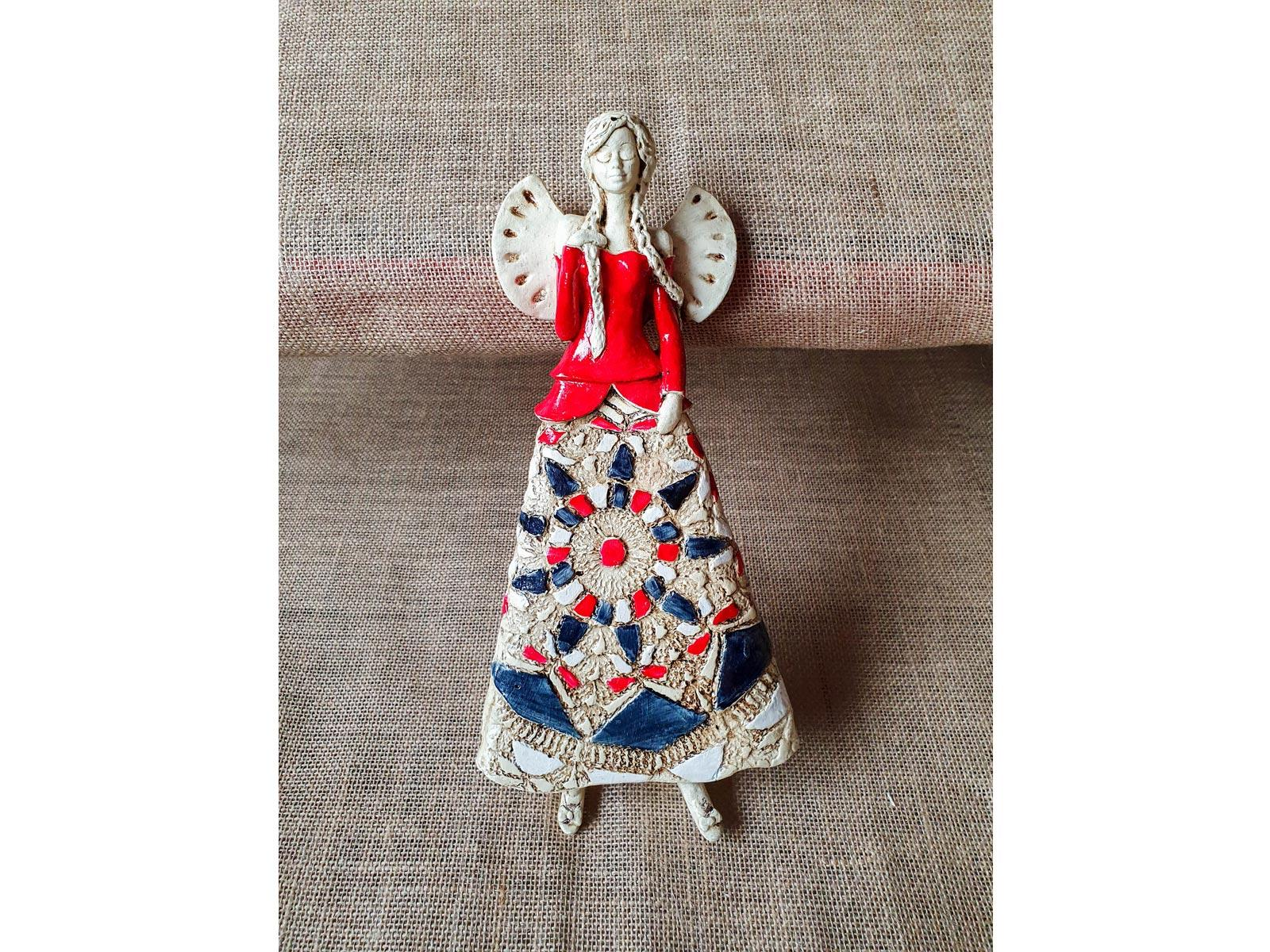 Angel Heather (Red) -  35 x 15 cm decorative figurine