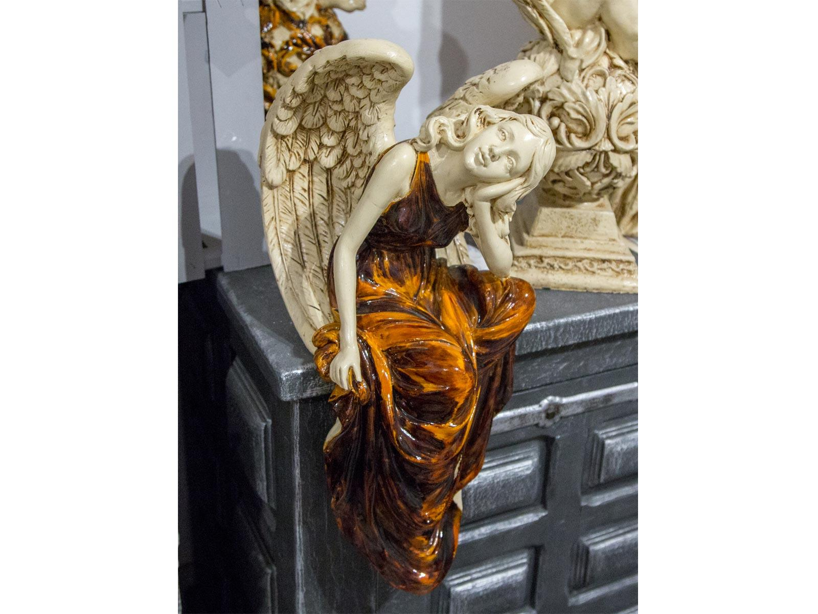 Angel Rita (Brown) -  47 x 25 cm decorative figurine